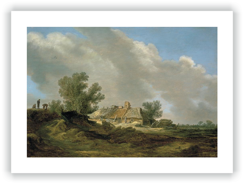 zoom Dune Landscape with Cottage and Figures