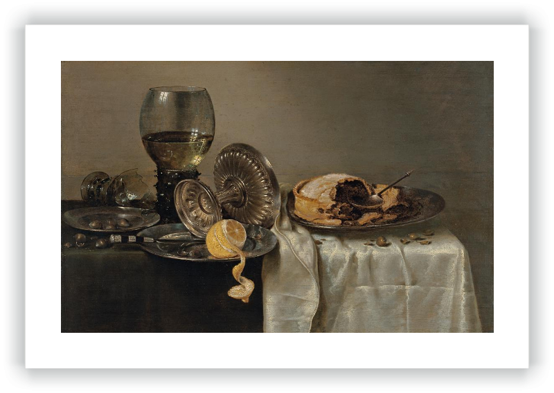 zoom Still Life with Fruit Pie and various Objects