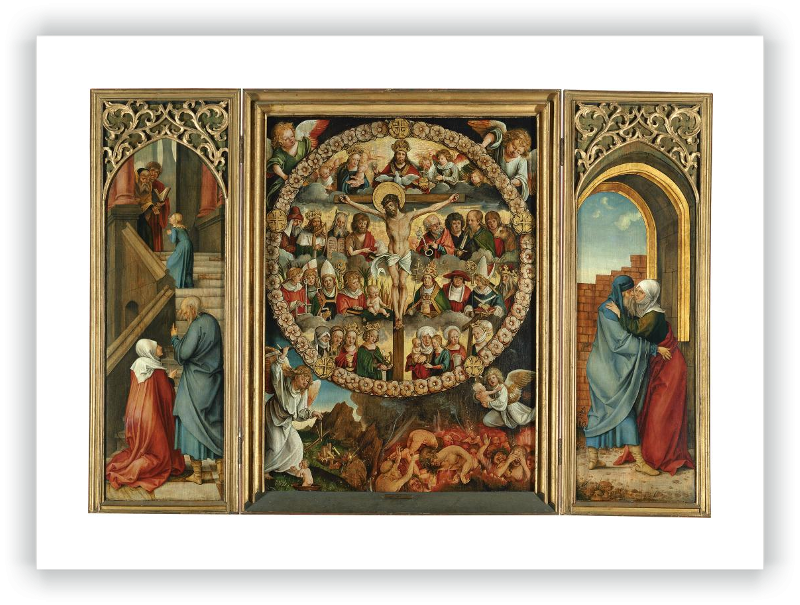 zoom Triptych of the Rosary