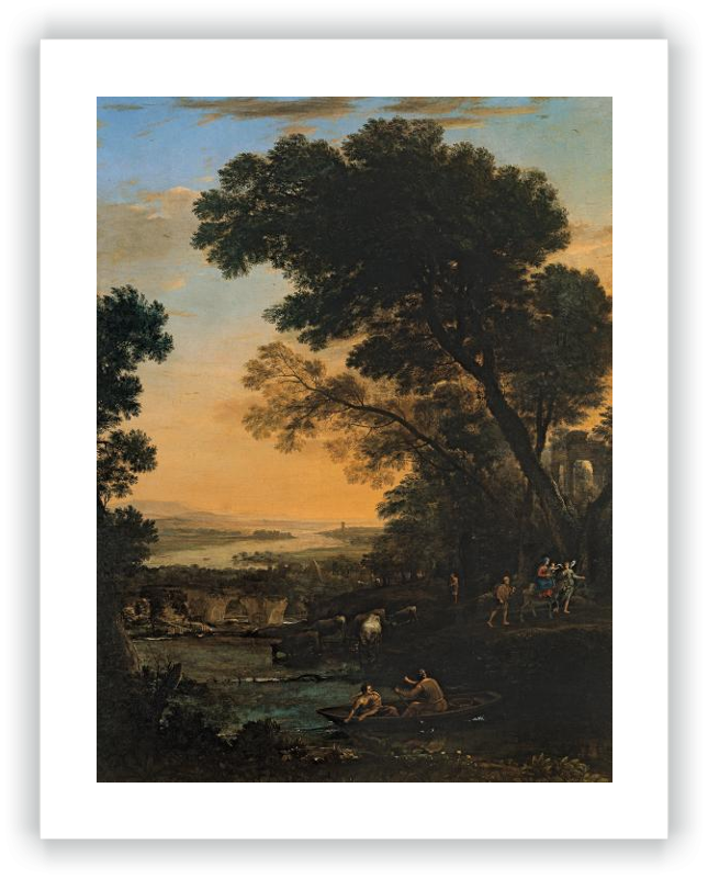 zoom Pastoral Landscape with a Flight into Egypt