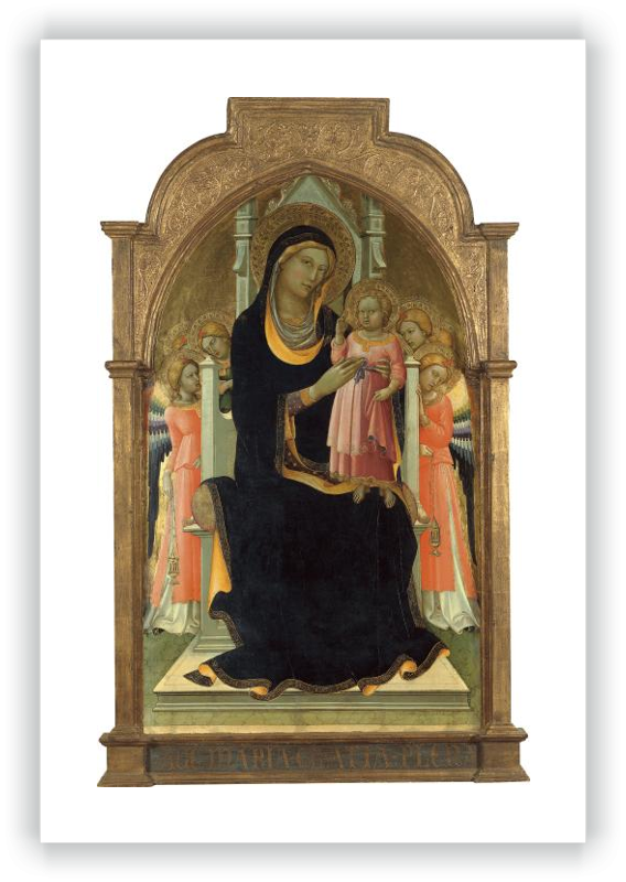 zoom The Virgin and Child enthroned with six Angels