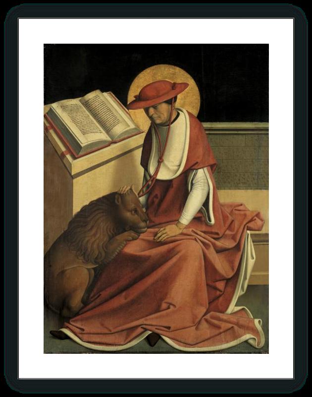 zoom Saint Jerome as a Cardinal