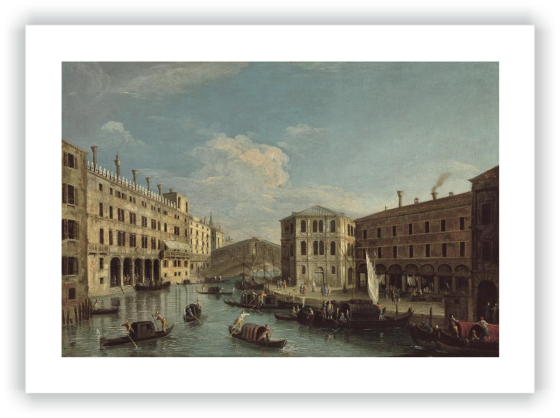 zoom The Grand Canal and the Rialto Bridge, Venice, from the North