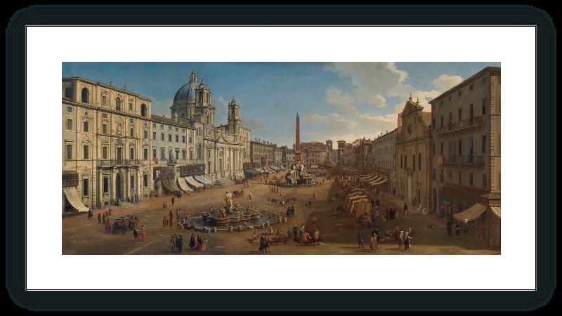 zoom Piazza Navona, Rome