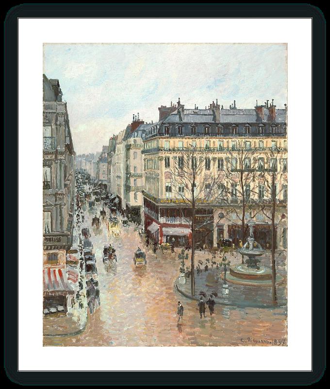 zoom Rue Saint-Honoré por la tarde
