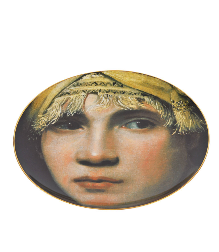 zoom Porcelain Plate Boy in a Turban