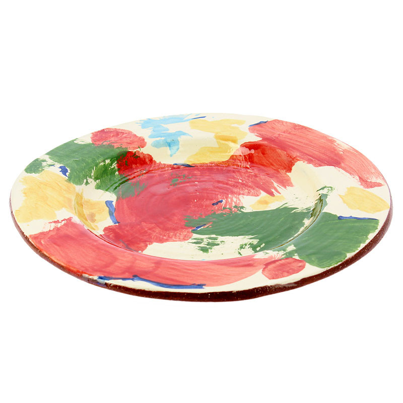 zoom Charger Plate Red Man with Moustache by Kooning