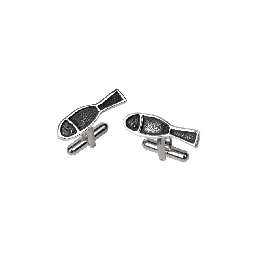 zoom Cufflinks Fish