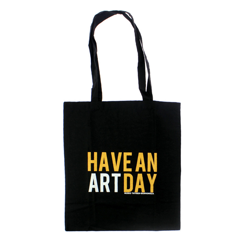 """zoom Black """"Have An Art Day"""" Tote bag"""
