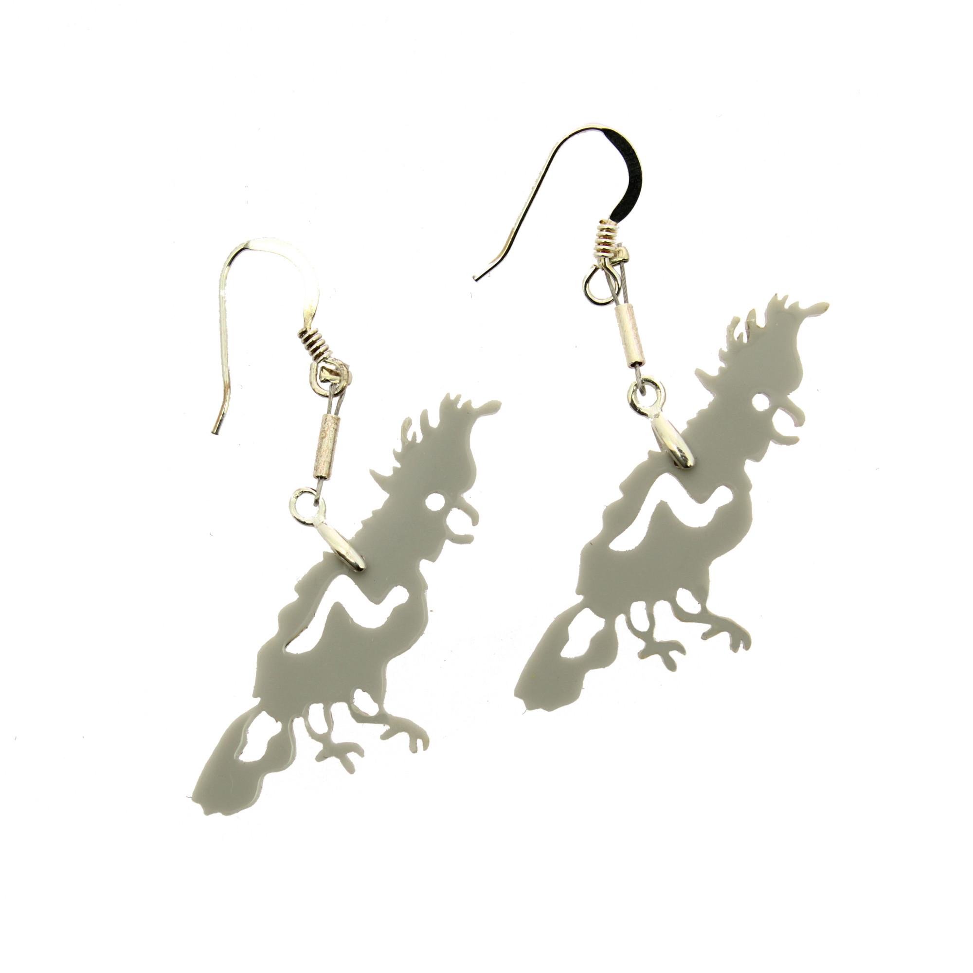 zoom Cacatua methacrylate earrings