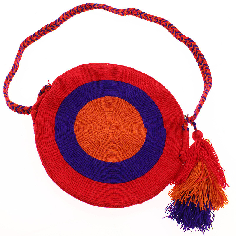 zoom Wayuu Clutch type purse. Portuguese Woman by Delaunay. Blue variant
