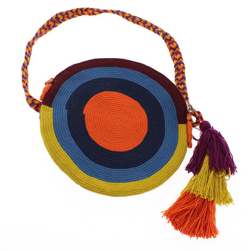 zoom Wayuu Clutch type purse. Portuguese Woman by Delaunay. Mustard-coloured variant