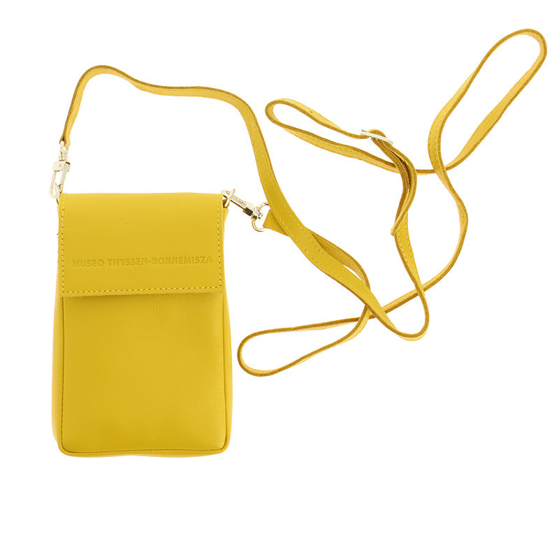 zoom Small Leather Yellow Purse