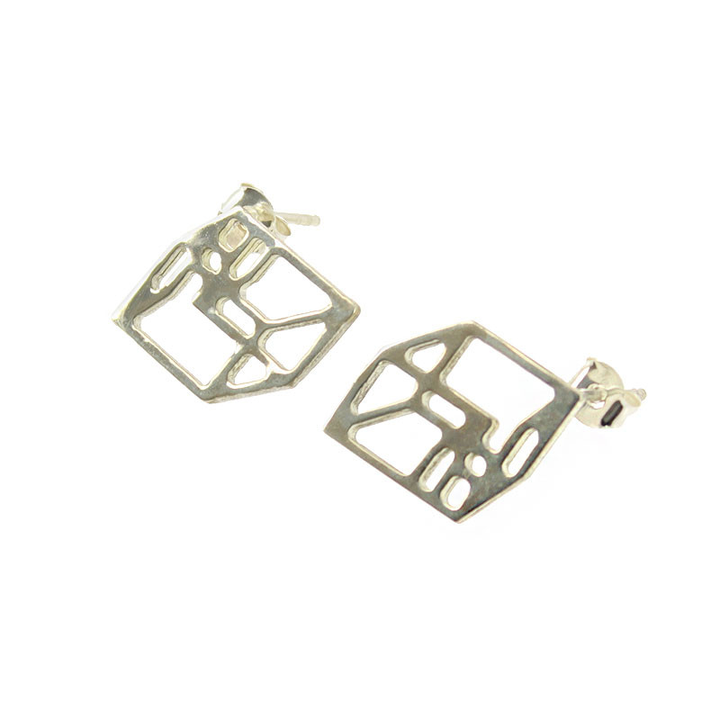 zoom Structural Constellation Alpha Small Earrings