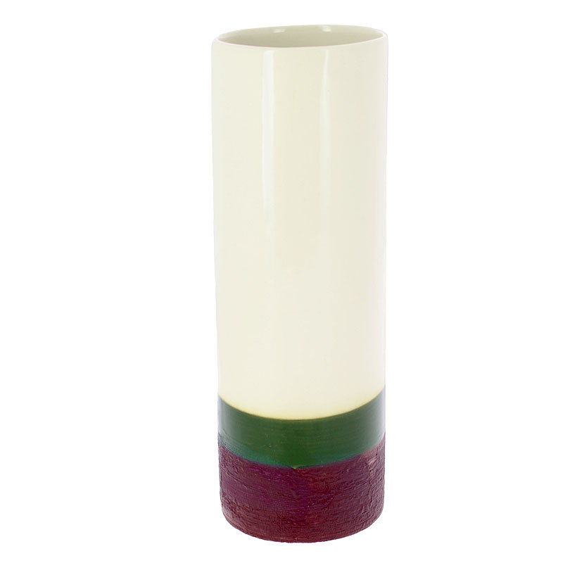 zoom Rothko Green on Maroon Tall Vase