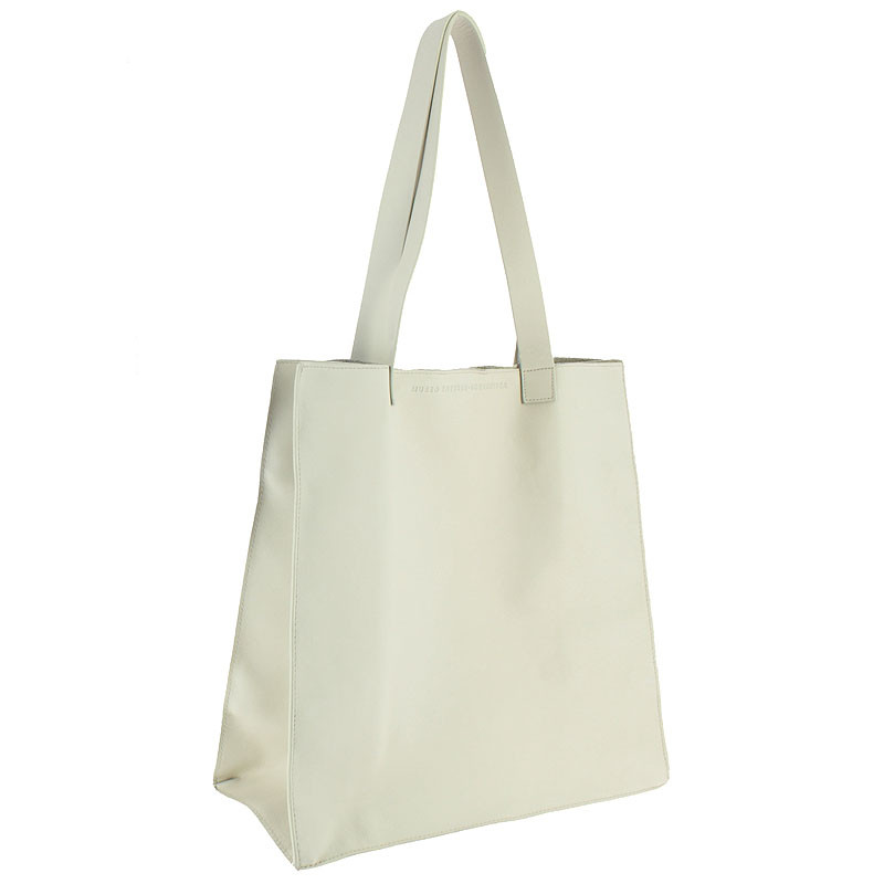 zoom White Leather Bag