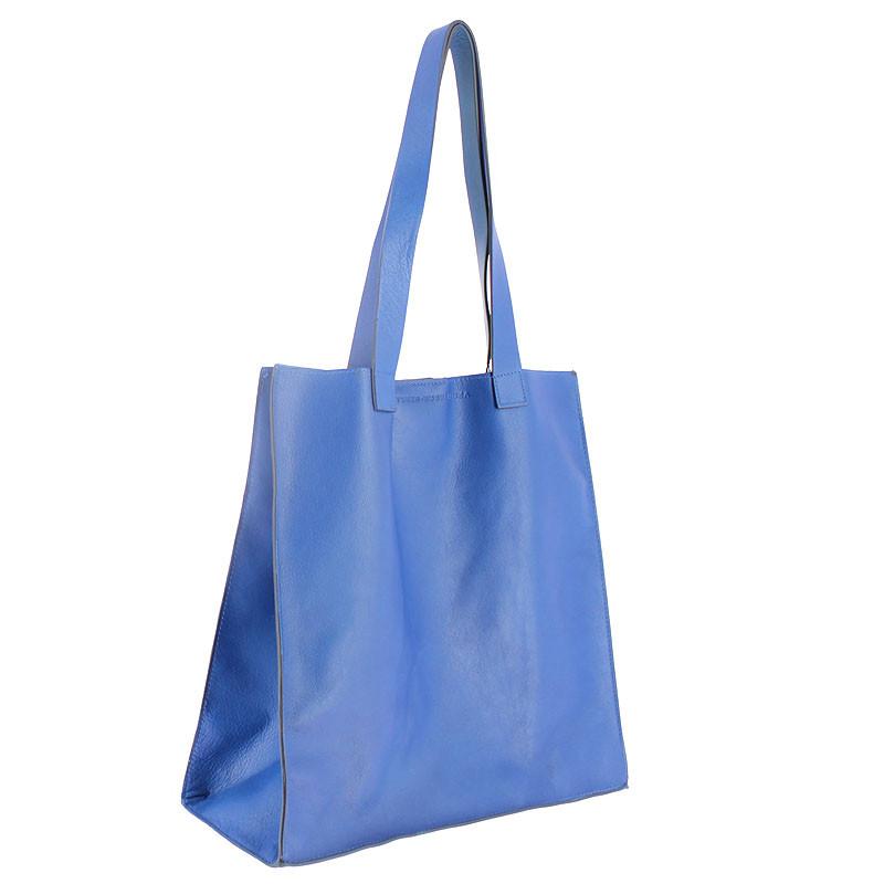 zoom Blue Leather Bag