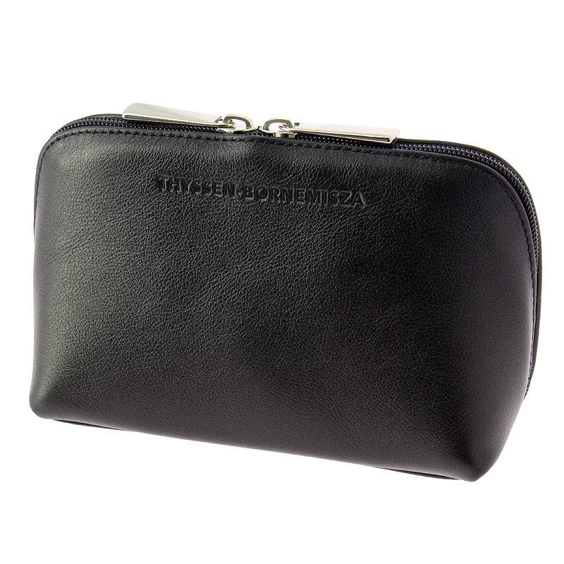zoom Black leather Toiletry bag