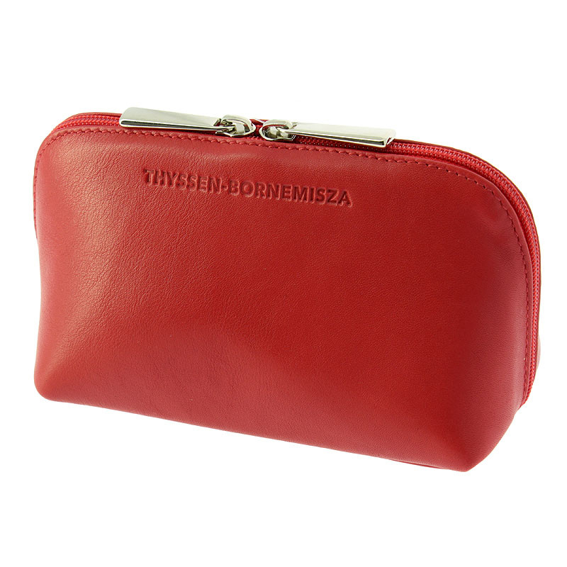 zoom Red leather Toiletry bag