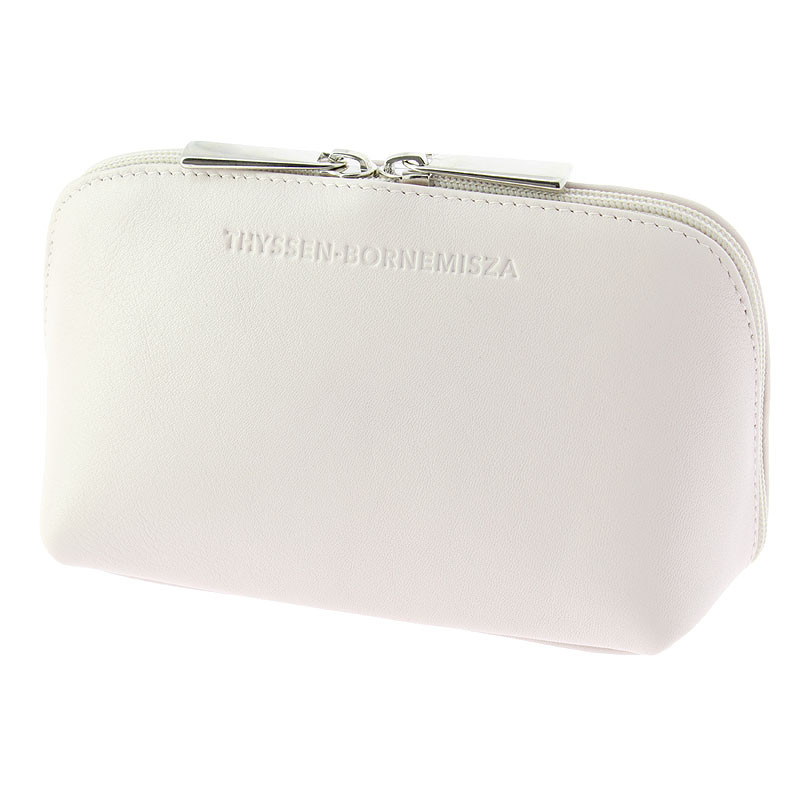 zoom White leather Toiletry bag