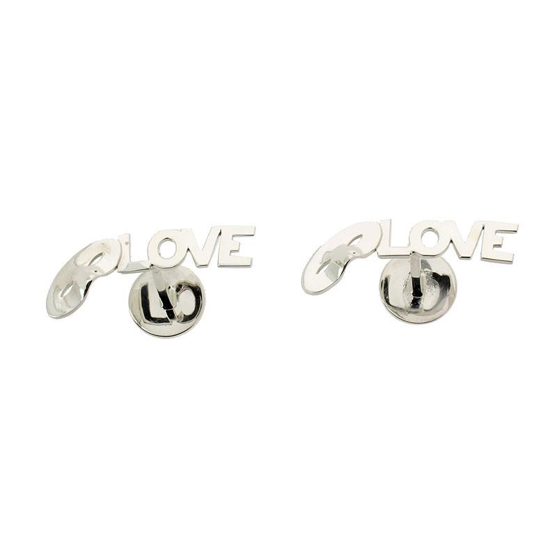 zoom Love, Love, Love Silver Cufflinks