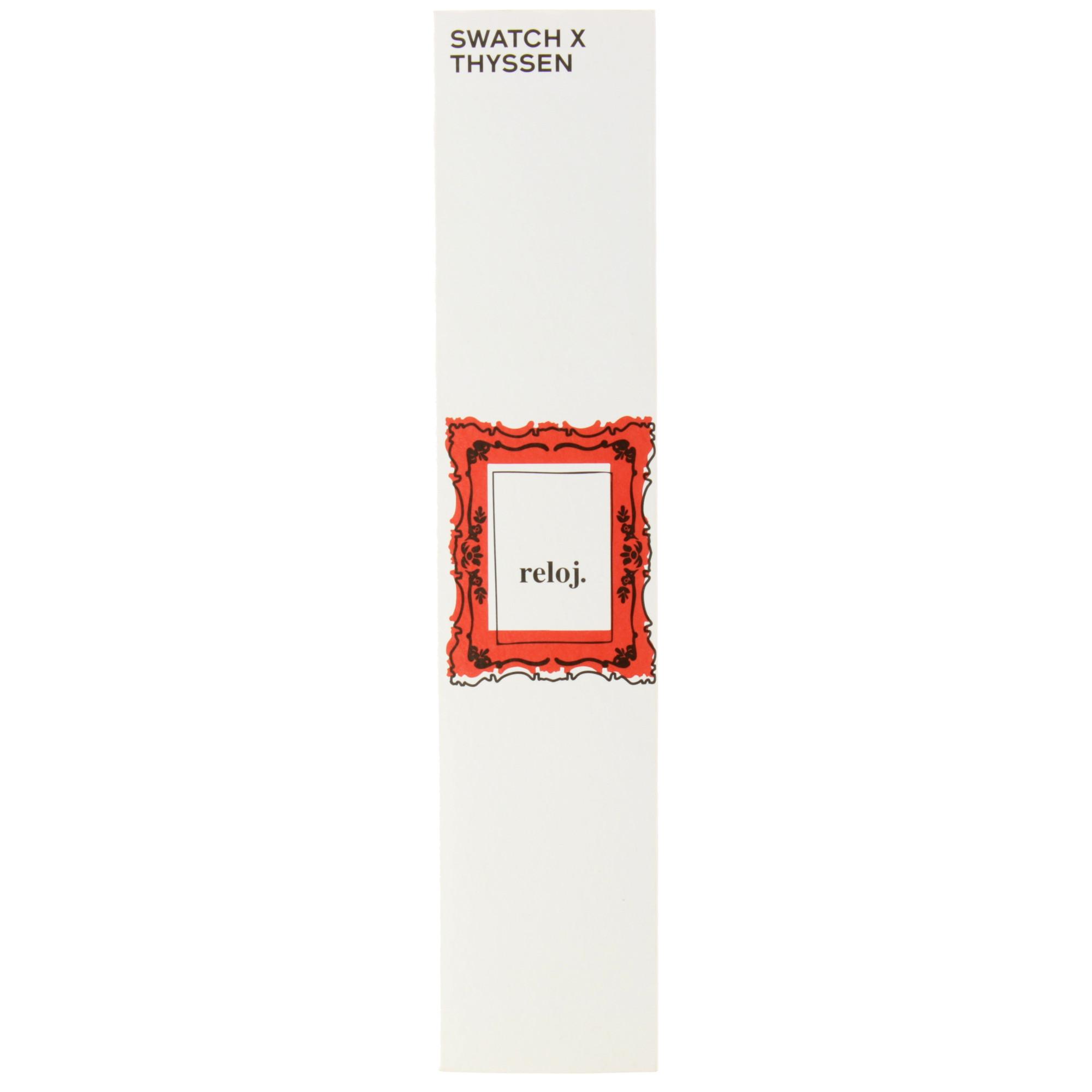 zoom Watch Swatch+Thyssen Mondrian The Red Shiny Line