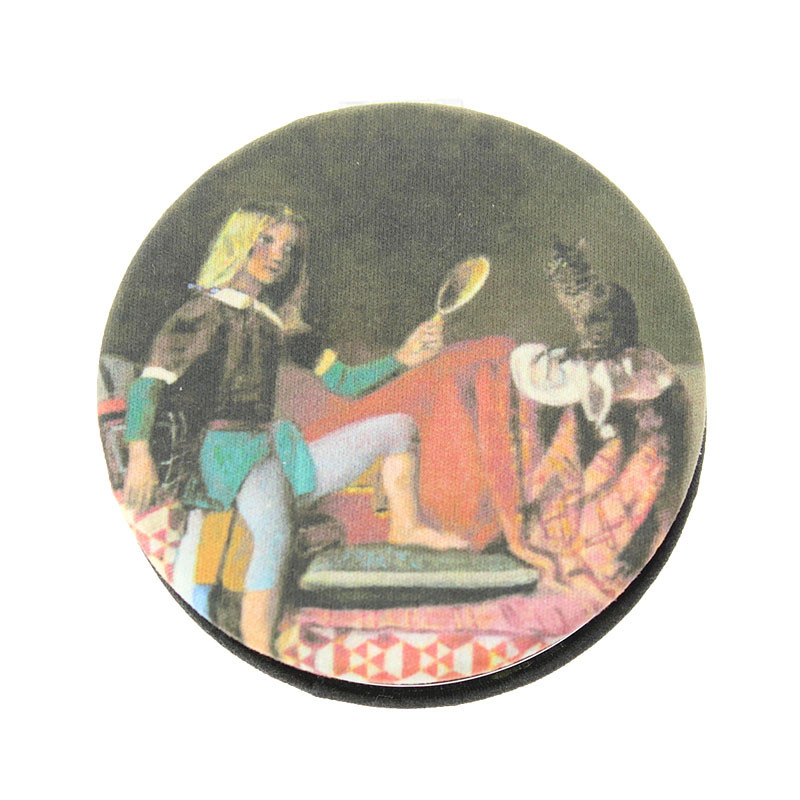 zoom Cat Cloth Mirror: Cat with a mirror by Balthus
