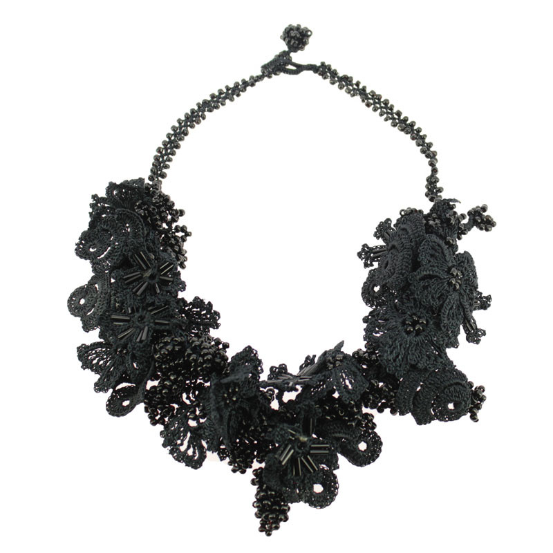 zoom Black Necklace. Balenciaga and Spanish Painting