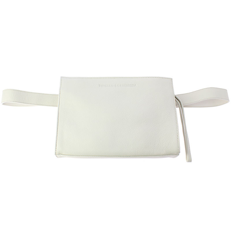zoom Leather Fanny Pack: Ice White color