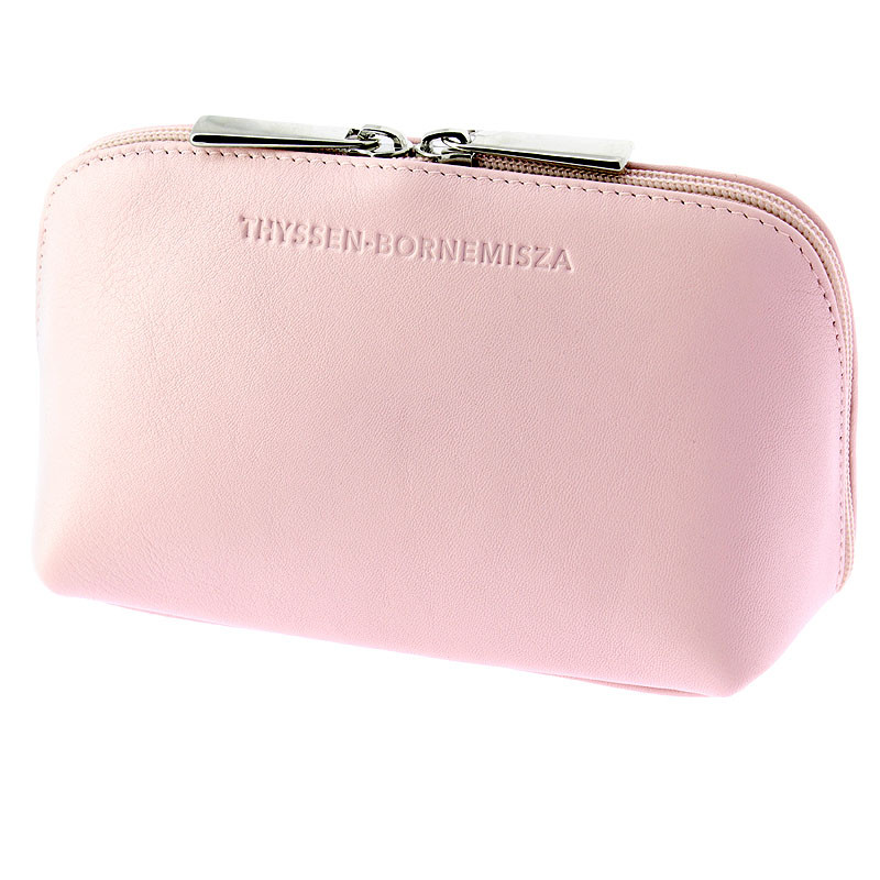 zoom Pink leather Toiletry bag