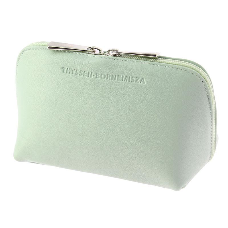 zoom Jade green leather Toiletry bag