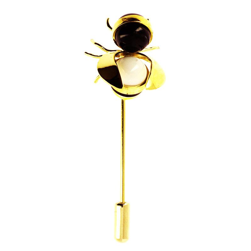 zoom van der Ast Small Bee Lapel Pin by Andrés Gallardo