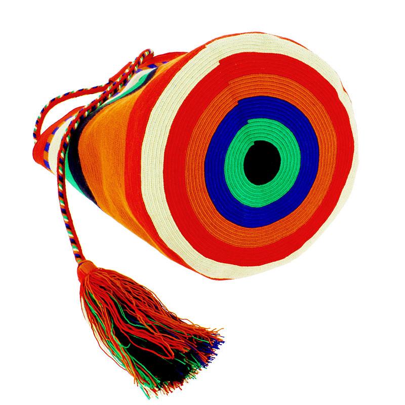 zoom Large Wayuu PursePortuguese Woman byDelaunay. Red, Orange and Blue color variant