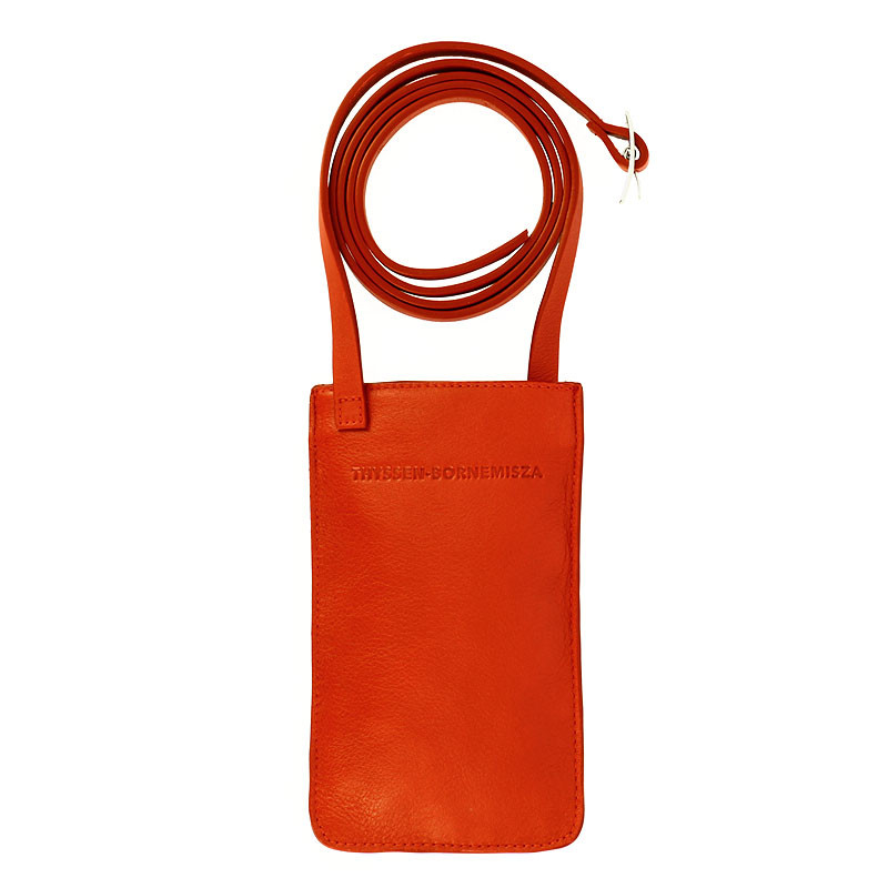 zoom Red Leather Mobile Phone Holder