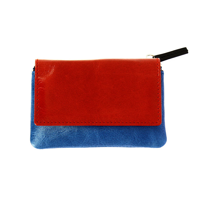 zoom Mondrian Leather Coin Purse
