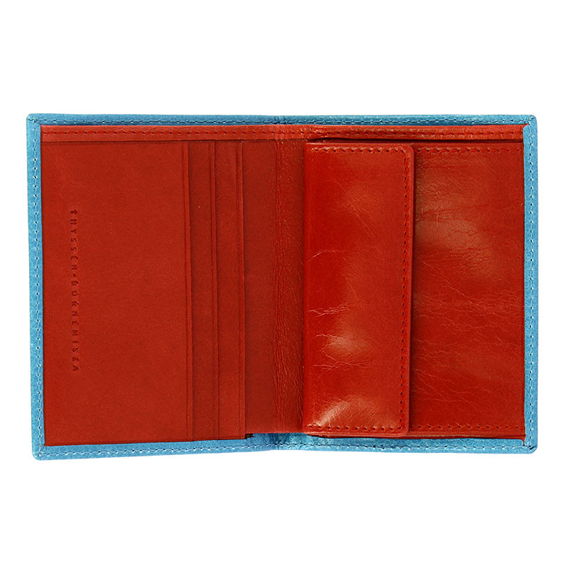zoom Schwitters Blue Wallet-Coin Purse
