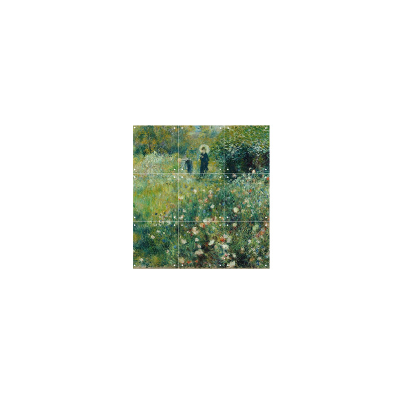 """zoom IXXI Mural decoration system 60 x 60 cm Renoir's """"Woman with a Parasol in a Garden"""""""