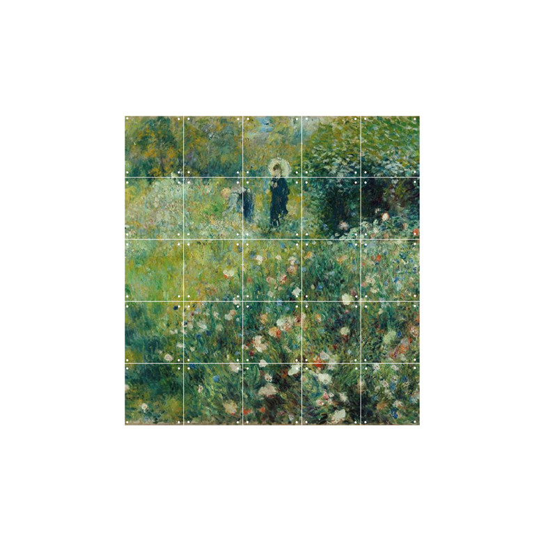 """zoom IXXI Mural decoration system 100 x 100 cm Renoir's """"Woman with a Parasol in a Garden"""""""