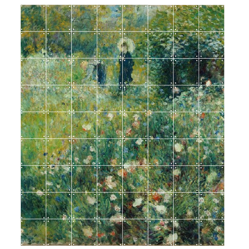 """zoom IXXI Mural decoration system 180 x 160 cm Renoir's """"Woman with a Parasol in a Garden"""""""