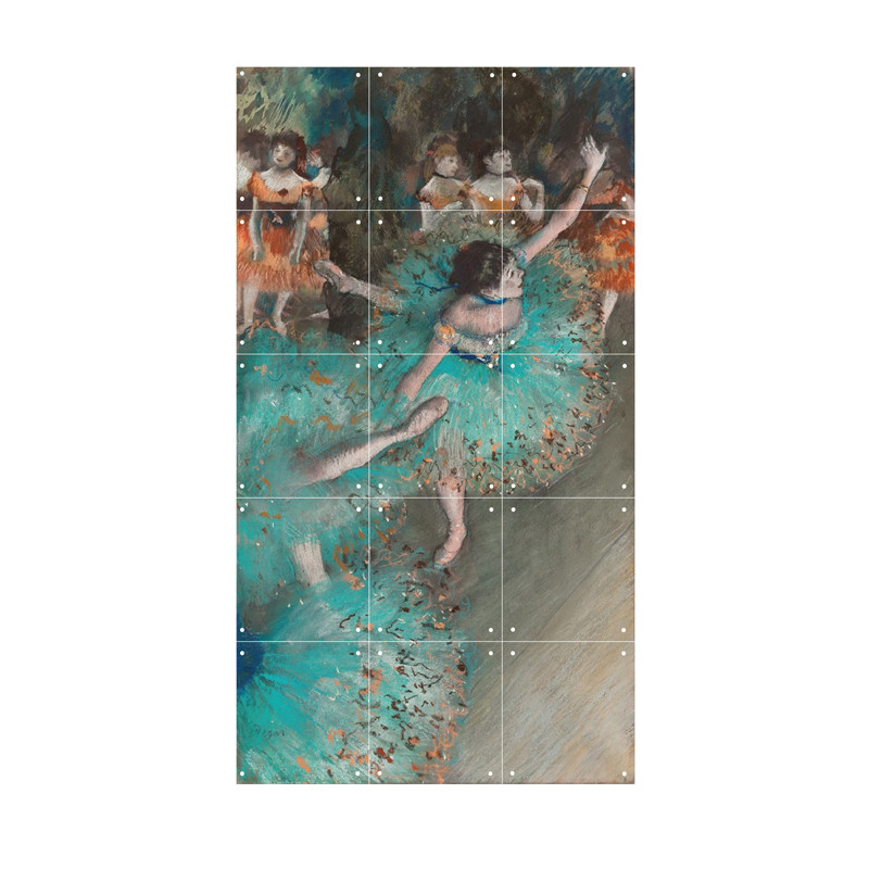 zoom IXXI Mural decoration system 60 X 100 Swaying Dancer (Dancer in Green), Degas