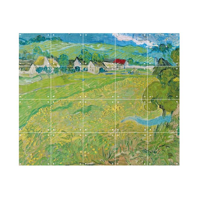 zoom IXXI Mural decoration system 100 X 80 Van Gogh Les Vessenots in Auvers