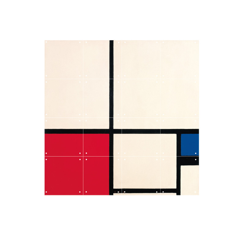 zoom IXXI Mural decoration system 80 X 80 Piet Mondrian Composition in Colours