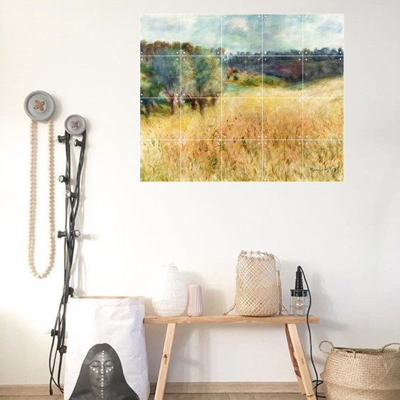 zoom IXXI Mural decoration system 100 X 80 Renoir´s Wheatfield