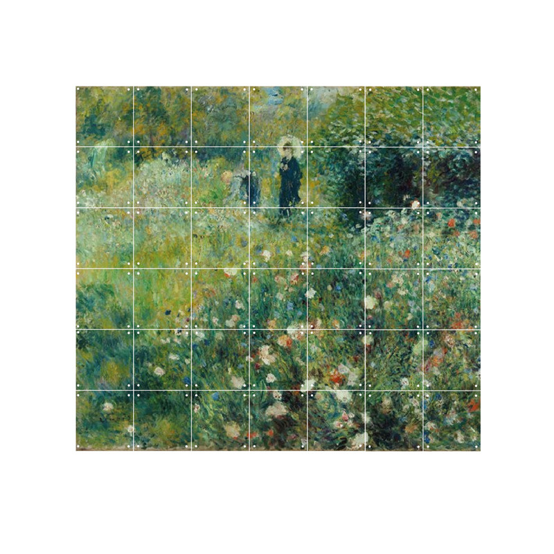 zoom IXXI Mural decoration system 140 X 120 Renoir´s Woman with a Parasol in a Garden