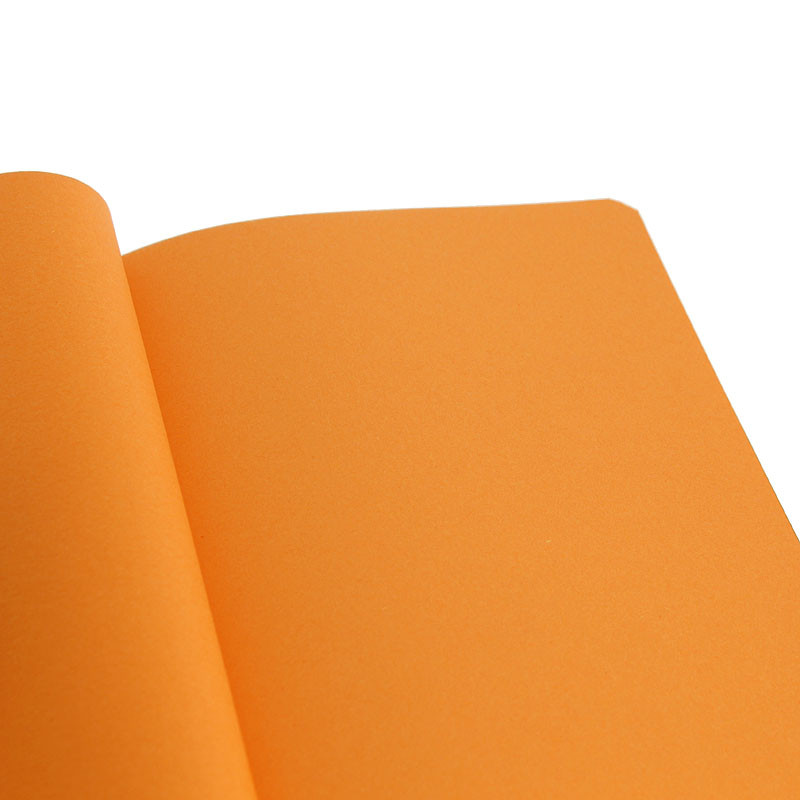 zoom Green cover with orange pages Notebook