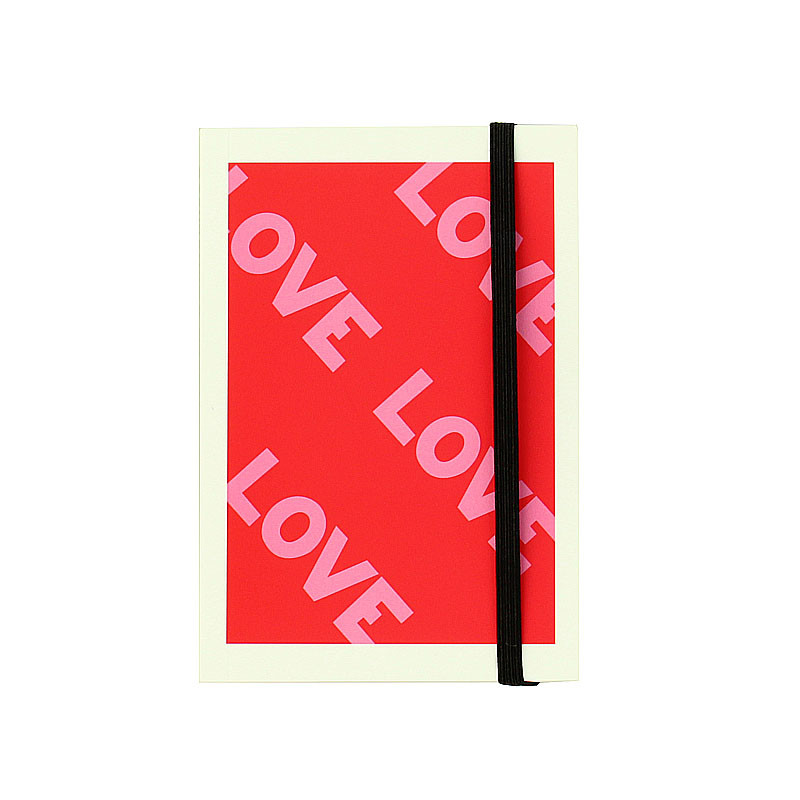 zoom Love,Love,Love notebook with elastic band