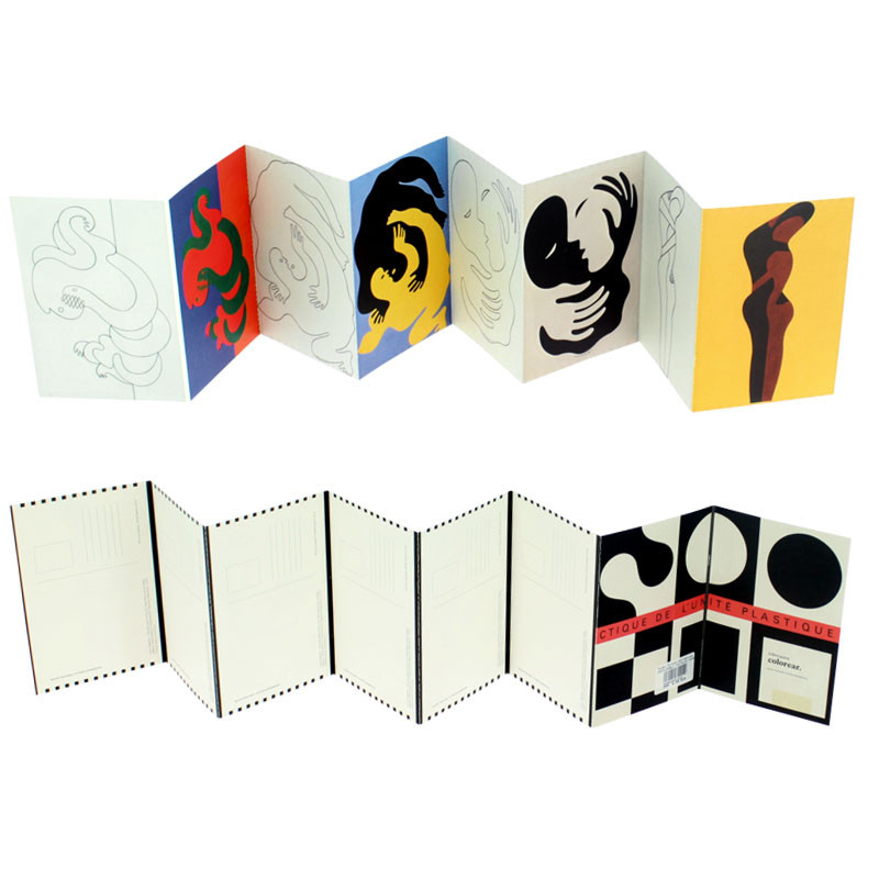 zoom Vasarely fold-out coloring postcards