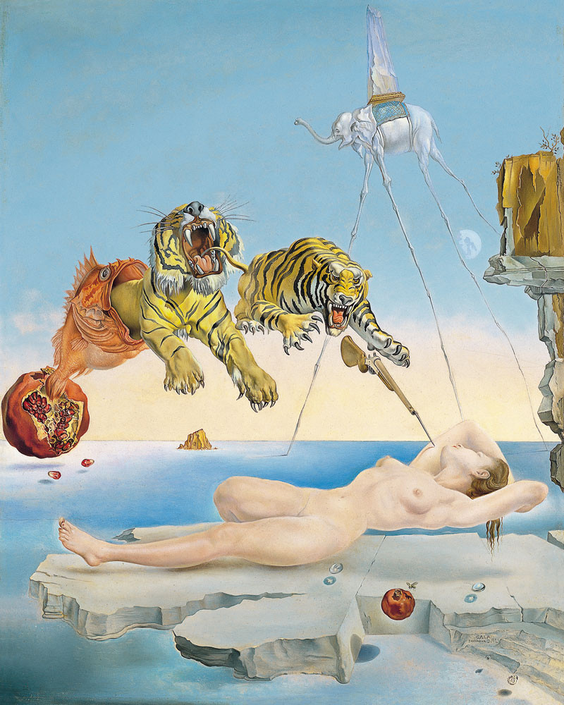 zoom Poster Salvador Dalí: Dream caused by the Flight of a Bee around a Pomegranate a Second before Waking up