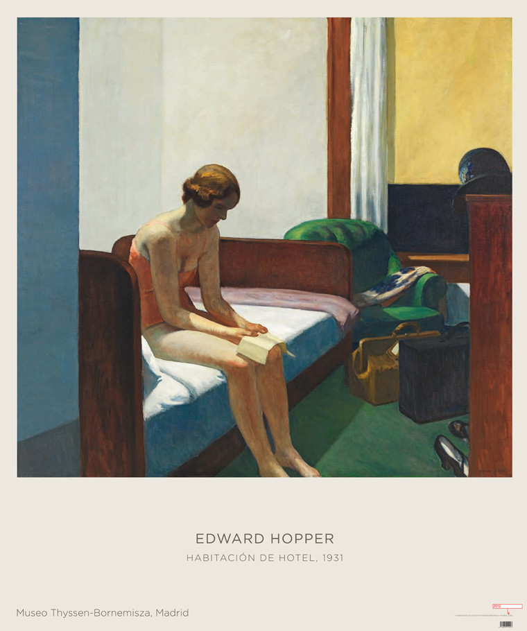 zoom Poster Edward Hopper: Hotel Room