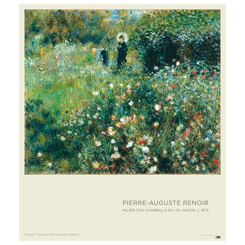 zoom Poster Woman with a Parasol in a Garden by Renoir